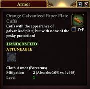 Orange Galvanized Paper Plate Cuffs