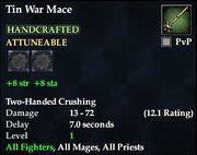 Tin War Mace