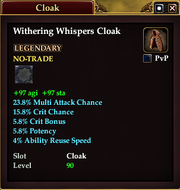 Withering Whispers Cloak