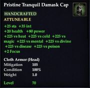 Pristine Tranquil Damask Cap