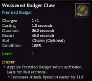 Weakened Badger Claw