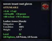 Woven treant root gloves