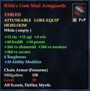 Ritik's Link Mail Armguards