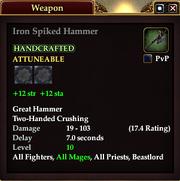 Iron Spiked Hammer