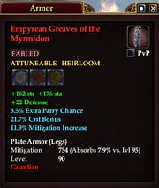 Empyrean Greaves of the Myrmidon