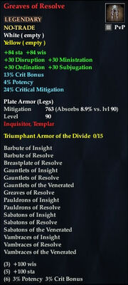 Greaves of Resolve