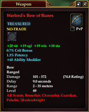 Warlord's Bow of Runes