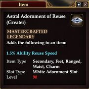 Astral Adornment of Reuse (Greater)