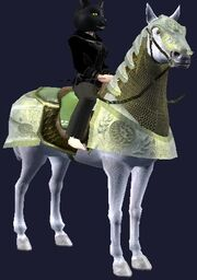 Green-saddled Dervish Destrier horse