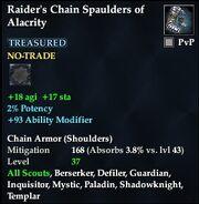 Raider's Chain Spaulders of Alacrity