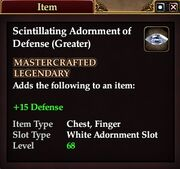 Scintillating Adornment of Defense (Greater)