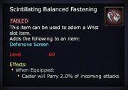 Scintillating Balanced Fastening