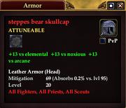 Steppes bear skullcap