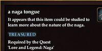A naga tongue