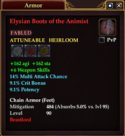 Elysian Boots of the Animist