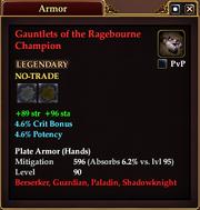 Gauntlets of the Ragebourne Champion