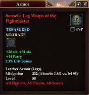 Sensei's Leg Wraps of the Fightmaster