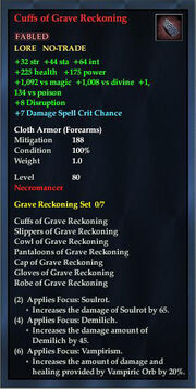 Cuffs of Grave Reckoning