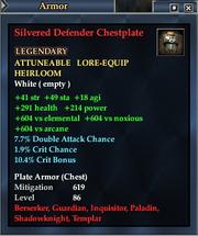 Silvered Defender Chestplate
