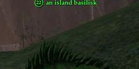 An island basilisk