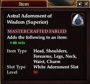 Astral Adornment of Wisdom (Superior)