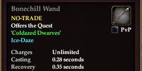 Bonechill Wand