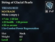 String of Glacial Pearls