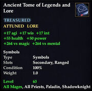 Ancient Tome of Legends and Lore