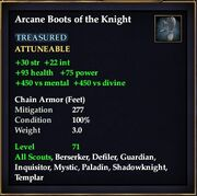 Arcane Boots of the Knight