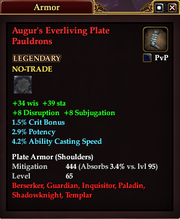 Augur's Everliving Plate Pauldrons