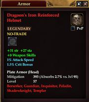 Dragoon's Iron Reinforced Helmet