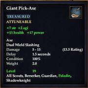 Giant Pick-Axe