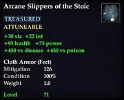 Arcane Slippers of the Stoic
