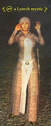 A Lyrech mystic (human)
