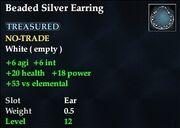 Beaded Silver Earring