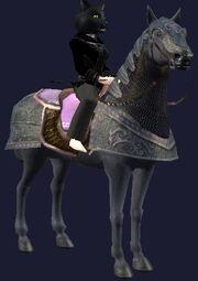 Pink-saddled Rujarkian Destrier