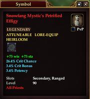 Snowfang Mystic's Petrified Effigy