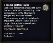 A model griffon tower