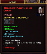 Blood Lord's Greaves of the Citadel
