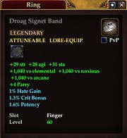 Droag Signet Band