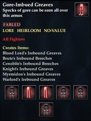 Gore-Imbued Greaves