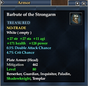 Barbute of the Strongarm