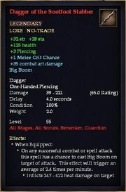Dagger of the Sootfoot Stabber