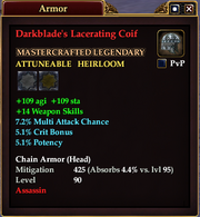 Darkblade's Lacerating Coif