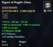 Signet of Fragile Glass