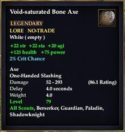 Void-saturated Bone Axe