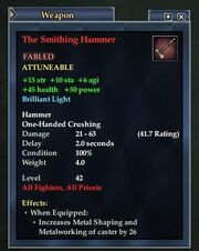 The Smithing Hammer