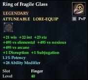 Ring of Fragile Glass