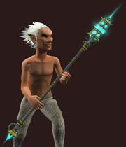 Tinkered Illuminated Polearm (Equipped)
