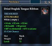 Dried Froglok Tongue Ribbon